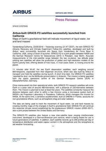 Press Release SPACE SYSTEMS 23052018-EN