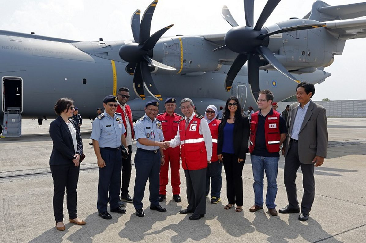 Humanitarian delivery flight of the fourth A400M to the RMAF (II)