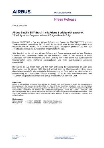 Press Release SPACE SYSTEMS 15022017-plan B-DE