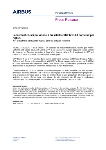 Press Release SPACE SYSTEMS 15022017-FR