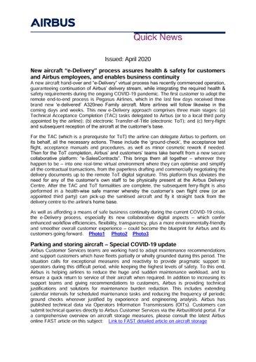 Airbus Quick News - April 2020
