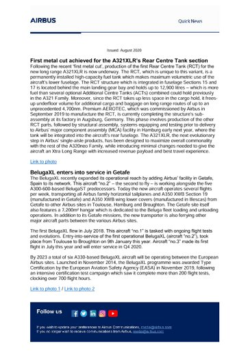 Airbus Quick News - August 2020