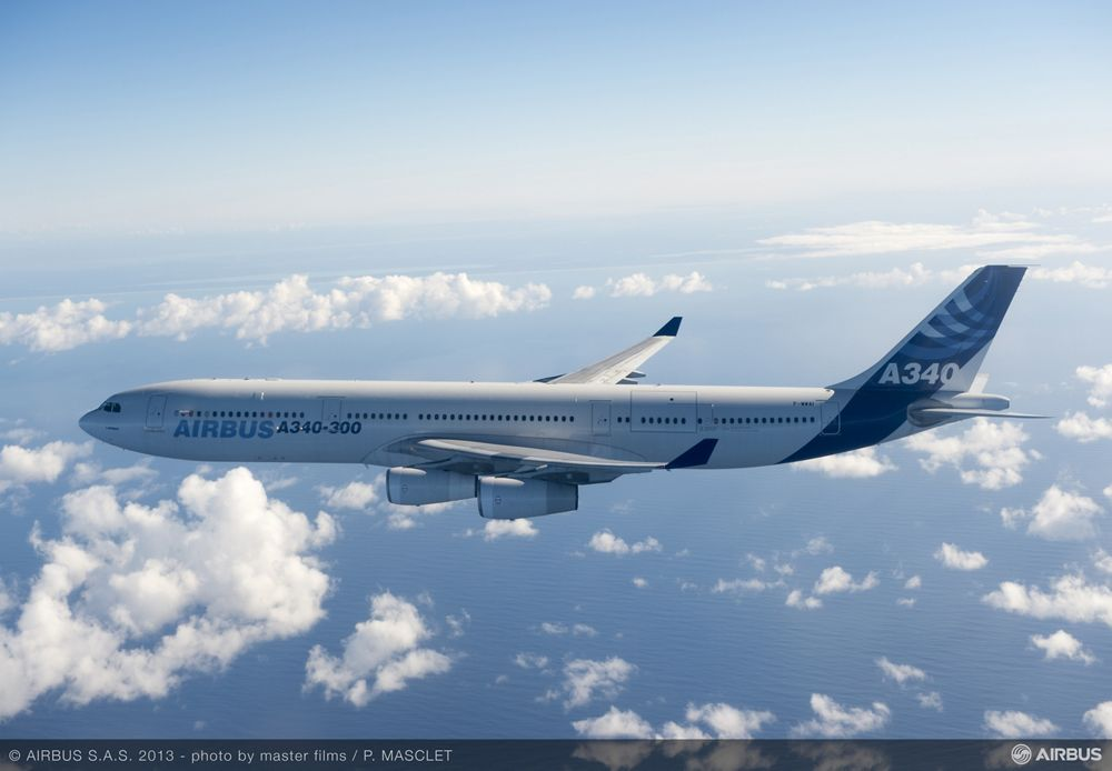 AVOID Airbus A340-300 MSN1 during the test flight fitted with AVOID sensor