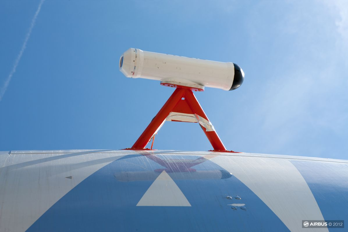 A340 : essais mesures cendres volcaniques AVOID, AVOID Closeup 2 of the AVOID sensor fitted to A340-300 MSN1 test aircraft