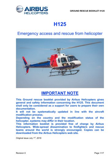 Emergency access and rescue from helicopter