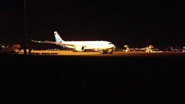Airbus flight to Tianjin