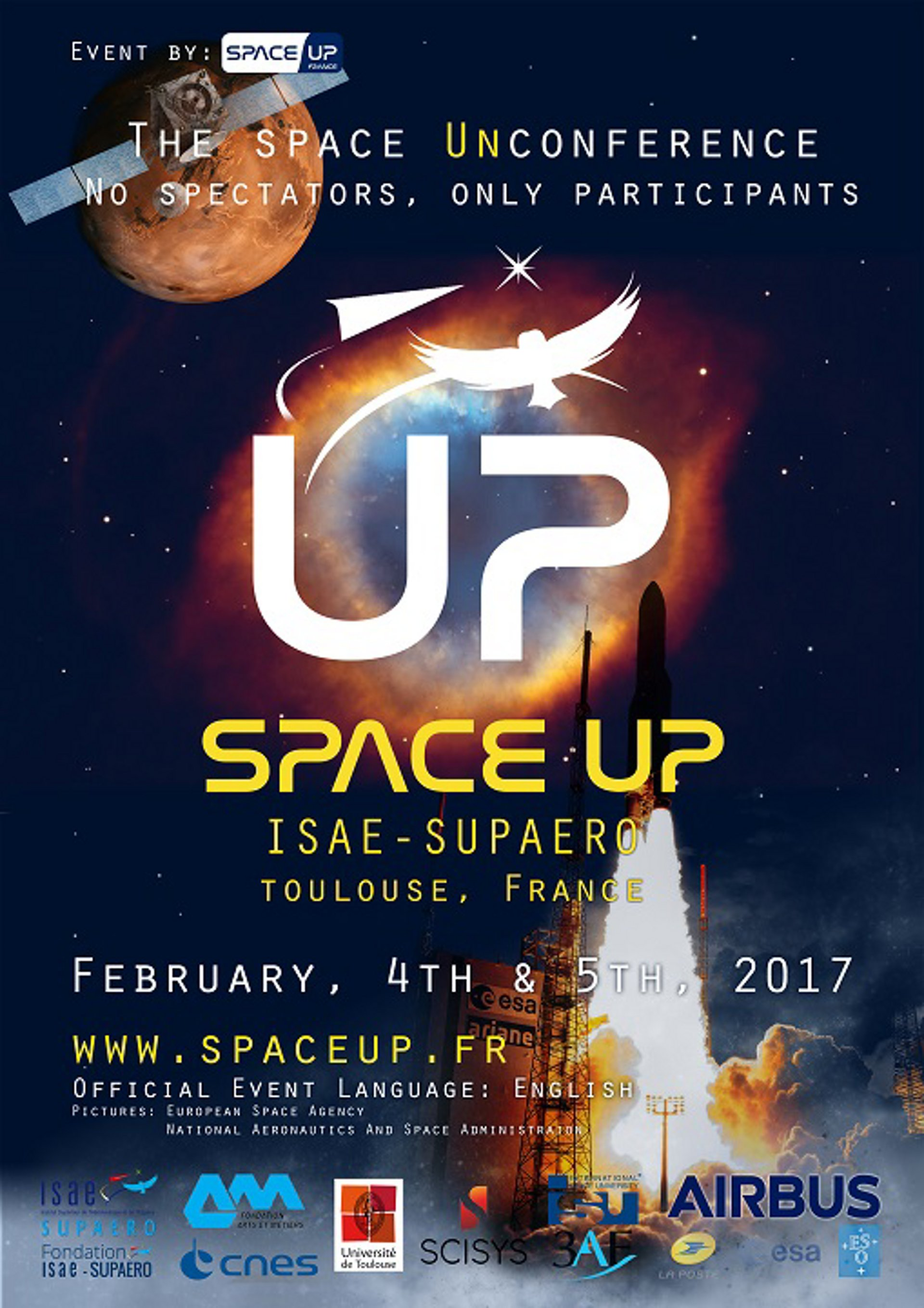 SpaceUp Event in Toulouse support by Airbus