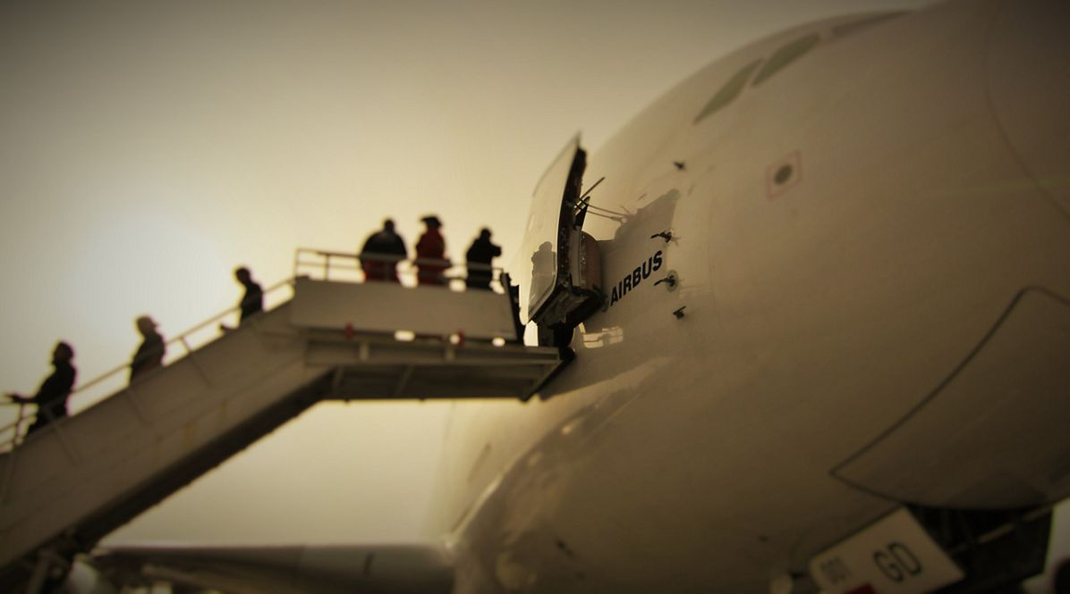 FIDAE 2014 Day 4 – A380 visits 1