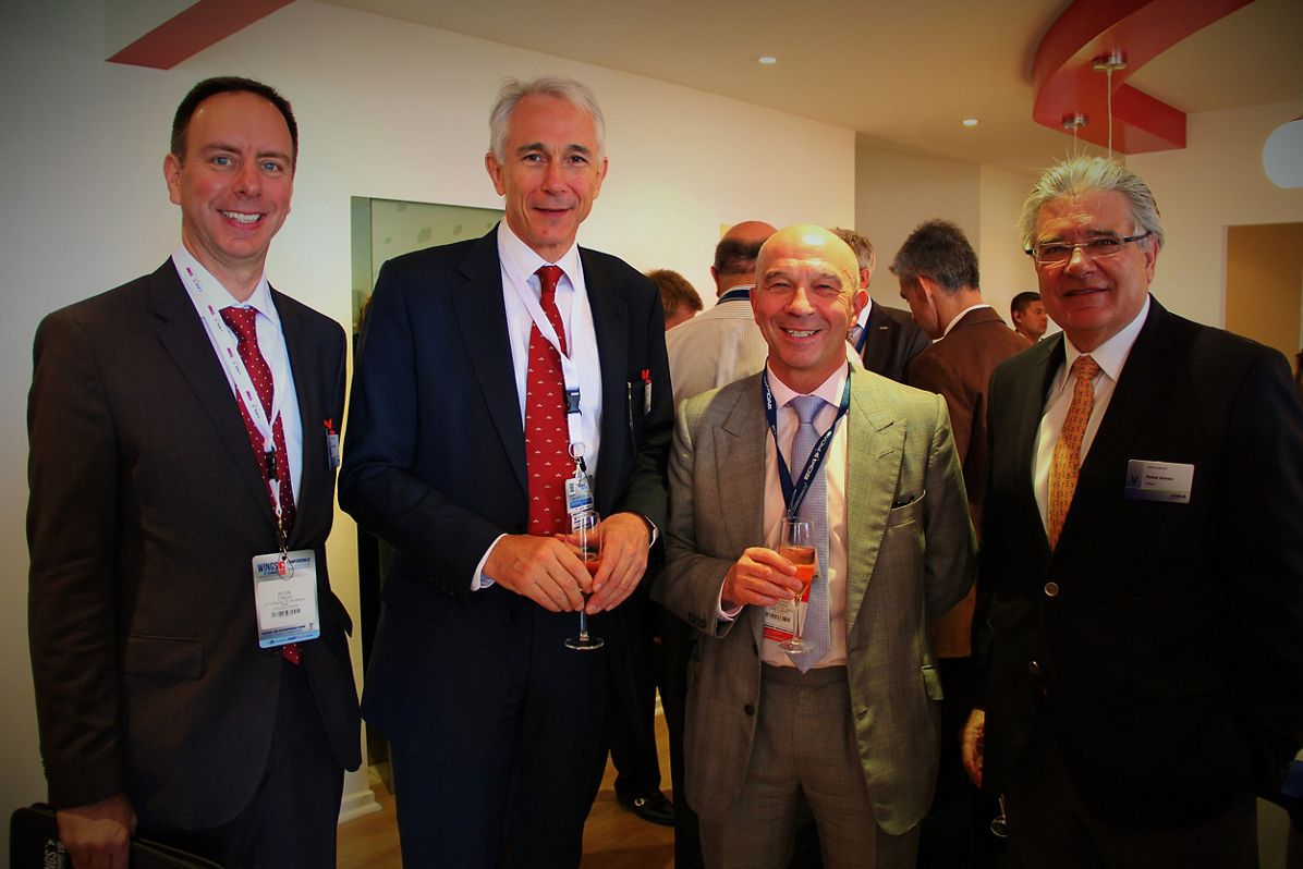 FIDAE 2014 Day 4 – Airbus Group Chalet