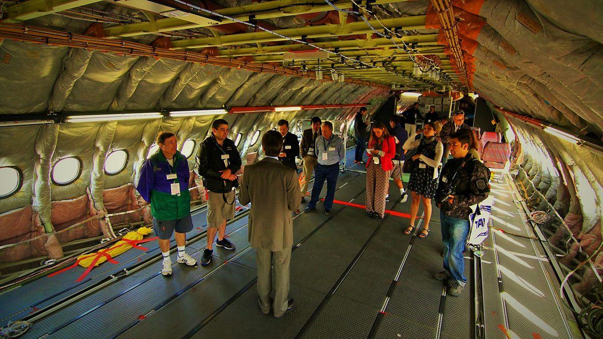 FIDAE 2014 Day 4 – Inside the A380