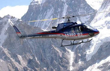 Airbus H125 helicopters operating on the roof of the world