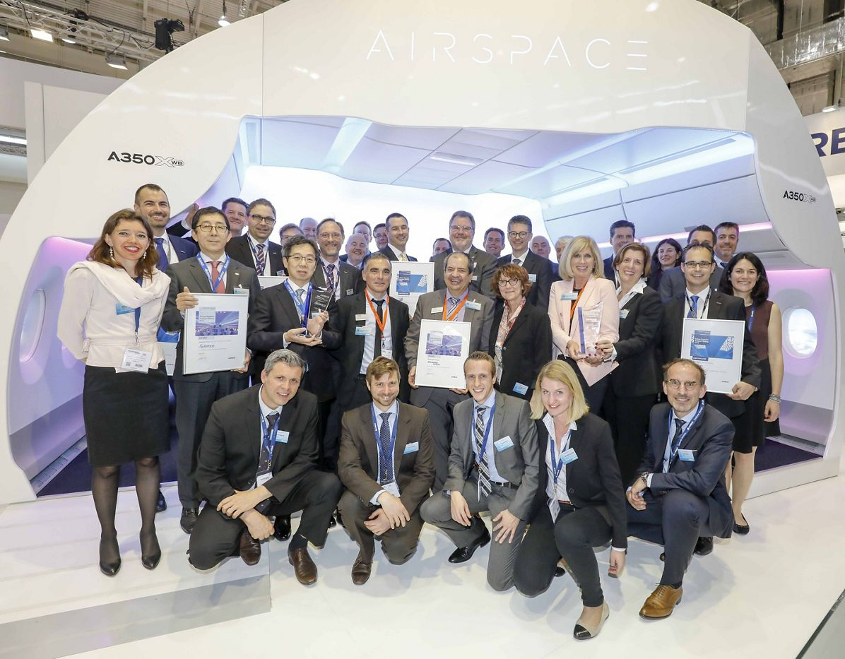 Aircraft Interiors Expo 2017_Airbus cabin supplier awards