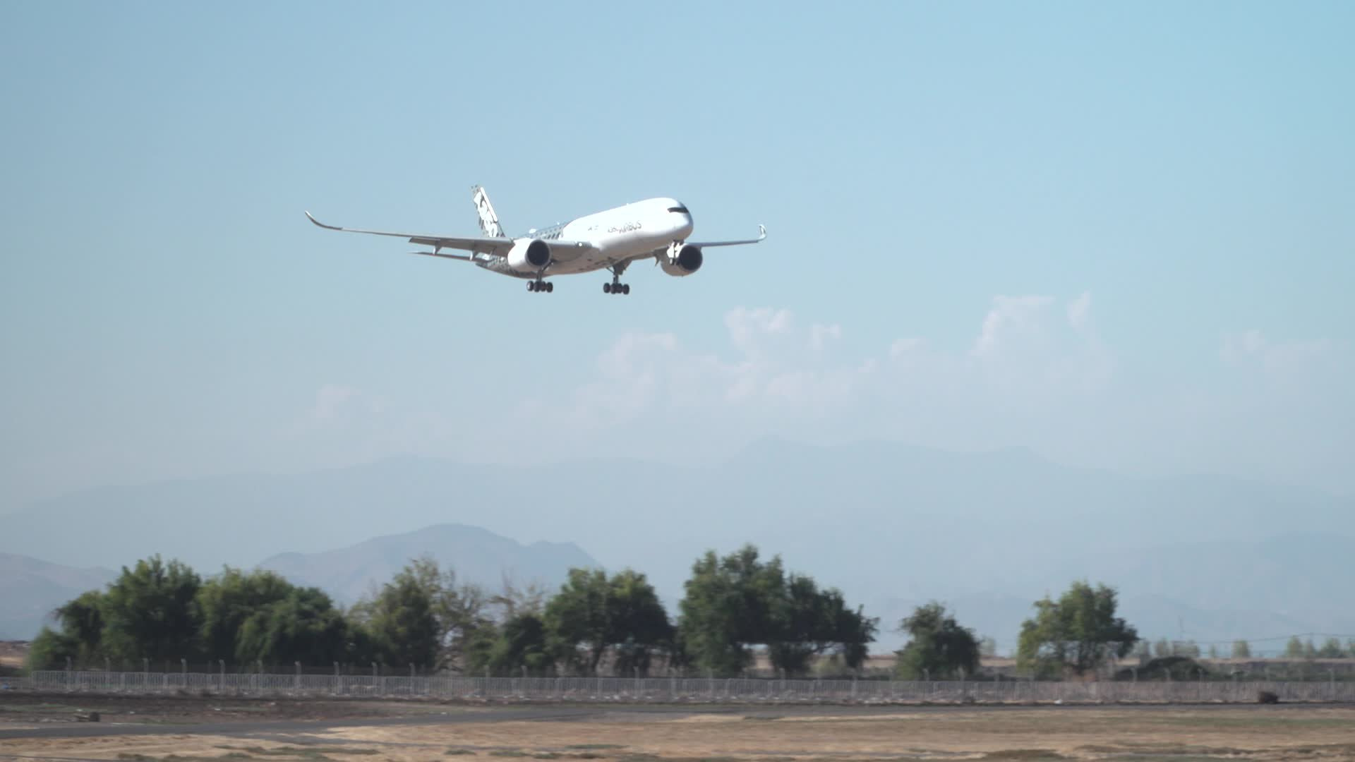 A350-900 Landing in Santiago for FIDAE 2018