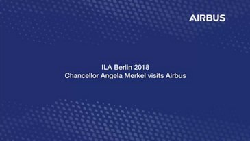 German Chancellor Angela Merkel visit Airbus at ILA 2018