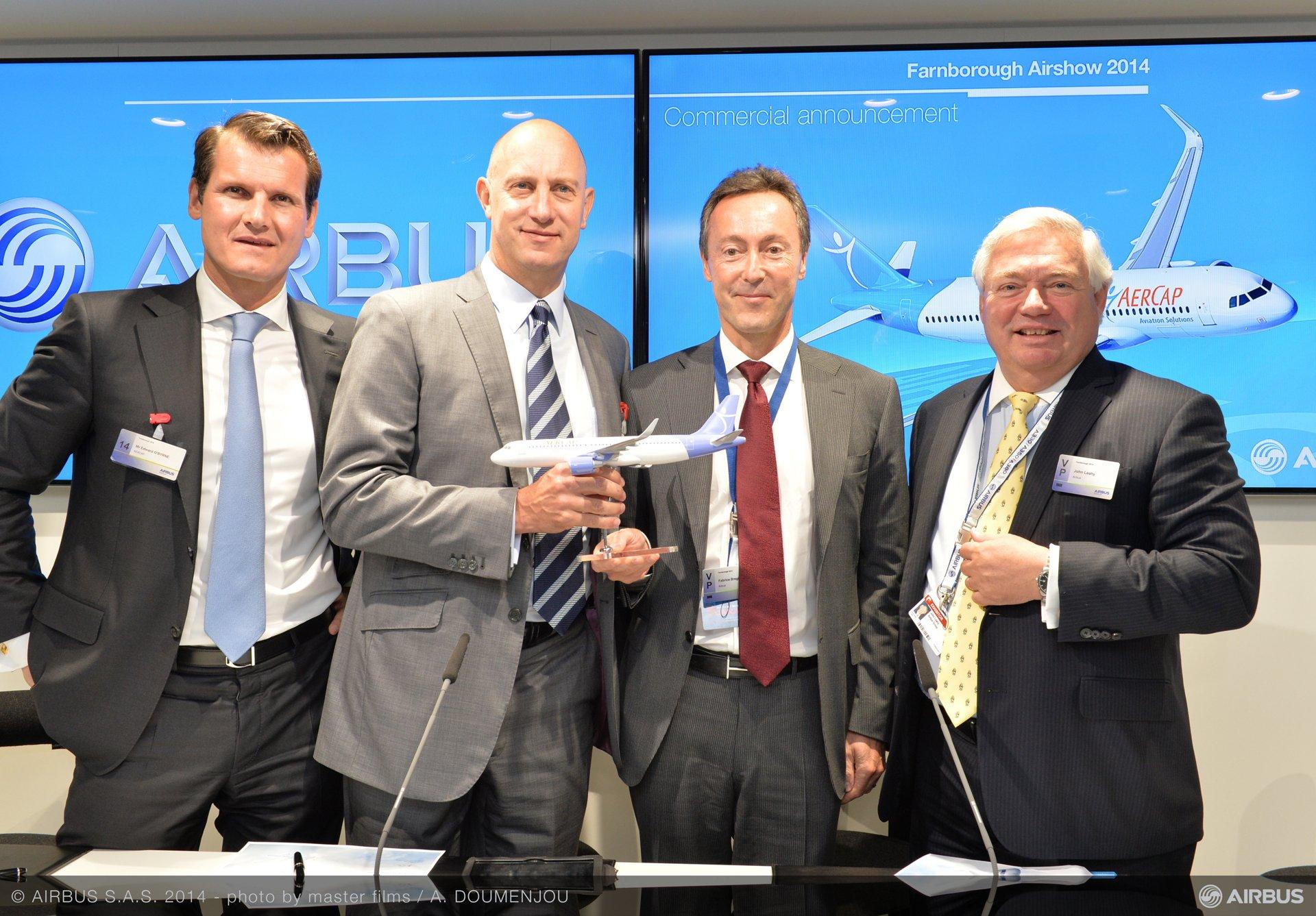 Farnborough 2014 – AerCap A320neo order 3