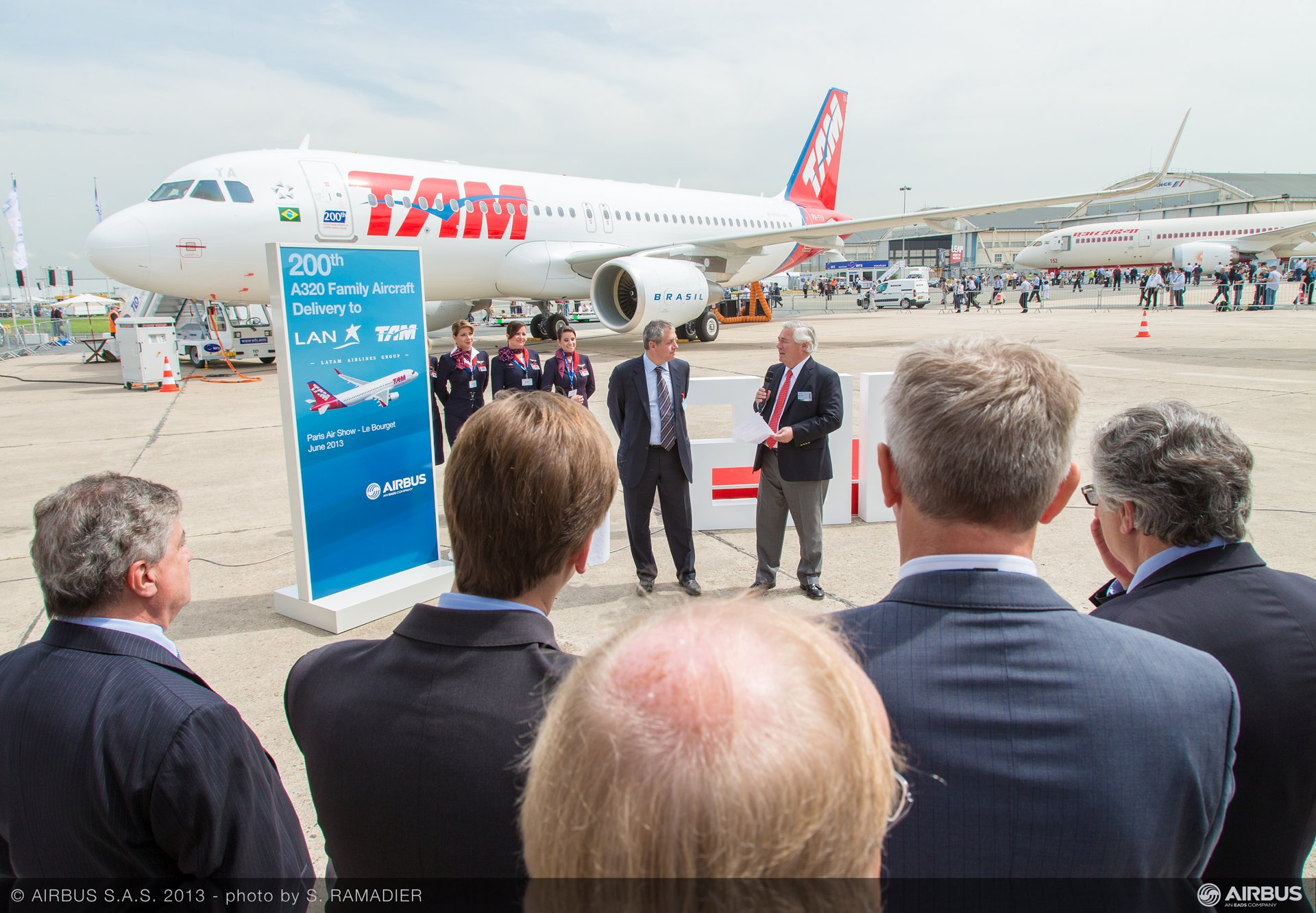 A320 LATAM 200th delivery ceremony 3