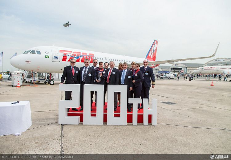 A320 LATAM 200th delivery ceremony 5