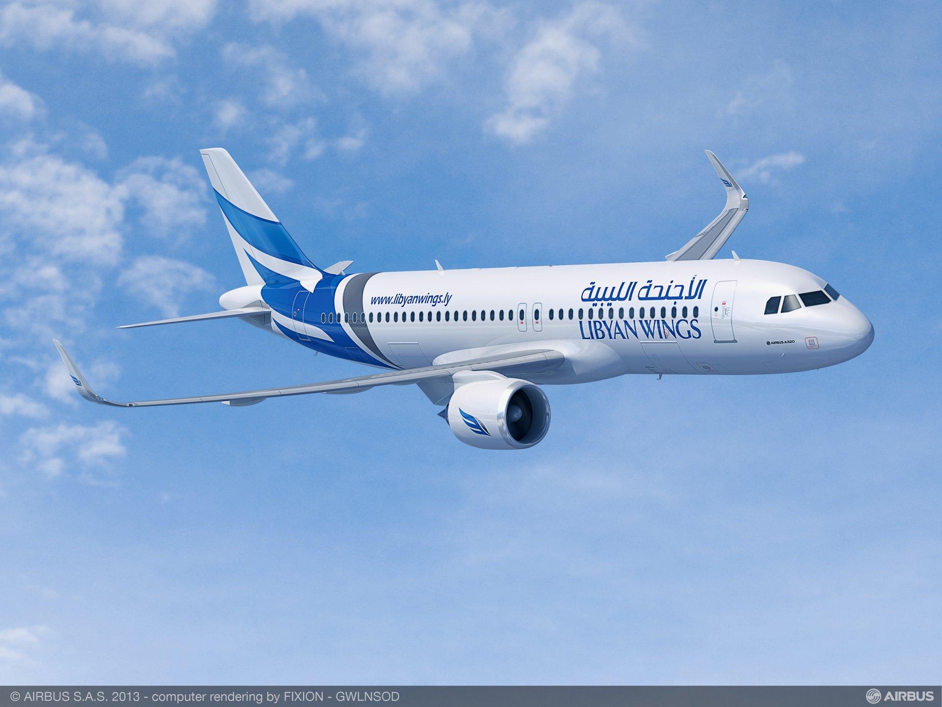 A320neo Libyan wings