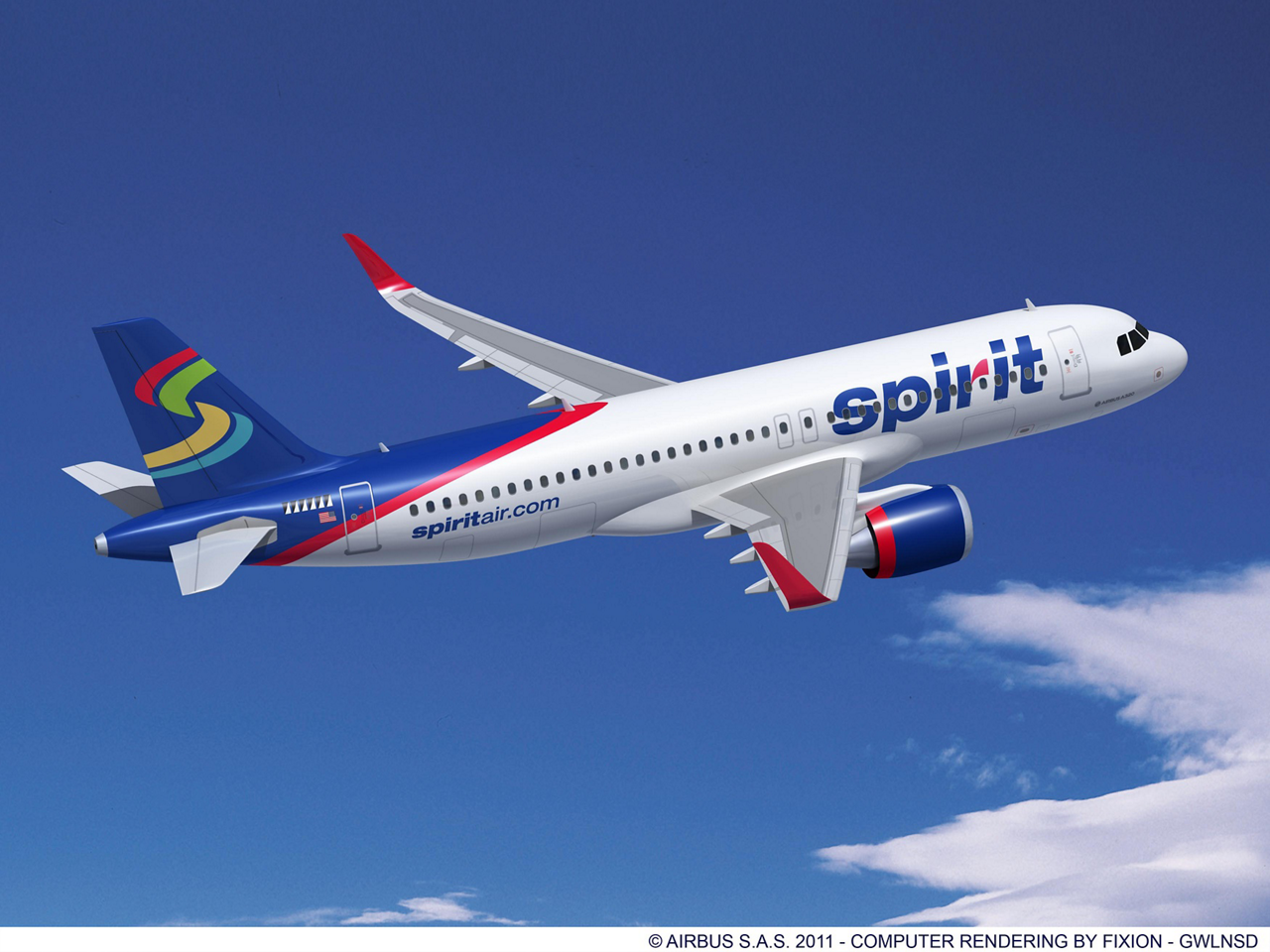 Spirit Airlines and Airbus signed today at the Dubai Airshow a Memorandum of Understanding (MoU) for 75 single-aisle aircraft, comprising 45 A320neo aircraft (new engine option) and 30 A320s. (15 November 2011)