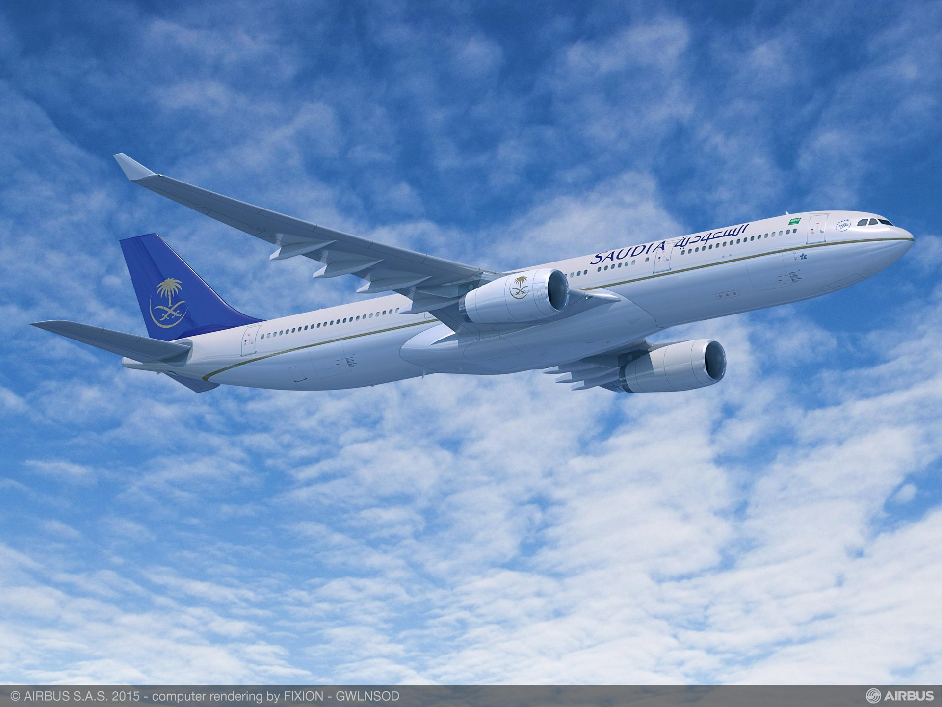 Announced on 15 June 2015, the national carrier of Saudi Arabia – Saudi Arabian Airlines – will become the launch operator of the A330-300 Regional, which is optimised for regional and domestic operations in high-growth regions  -