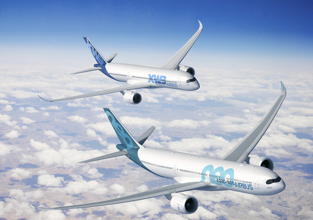 Airbus' A330neo is joining the A350 XWB in its distinctive cockpit windscreen design
