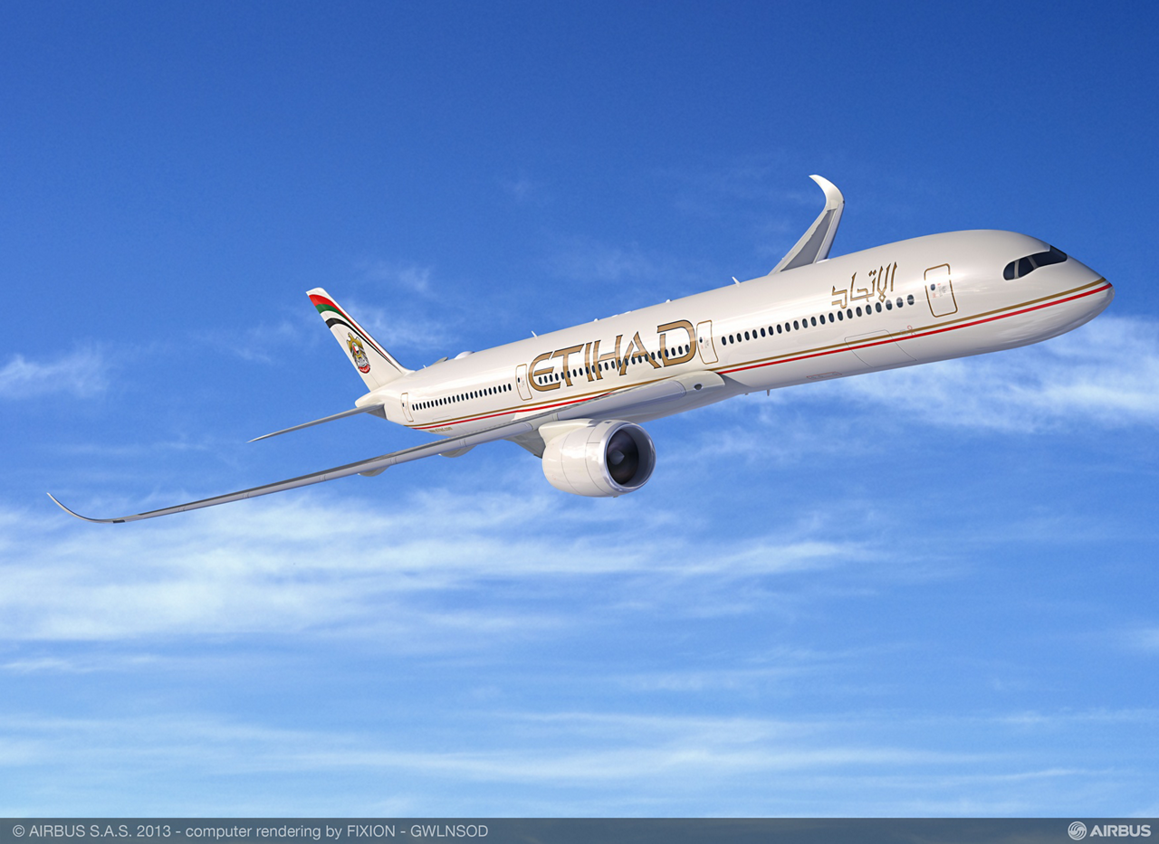Etihad Airways, national airline of the United Arab Emirates, has announced a firm order for 50 A350 XWBs, 36 A320neo aircraft and one A330-200F as part of its fleet modernization strategy.
