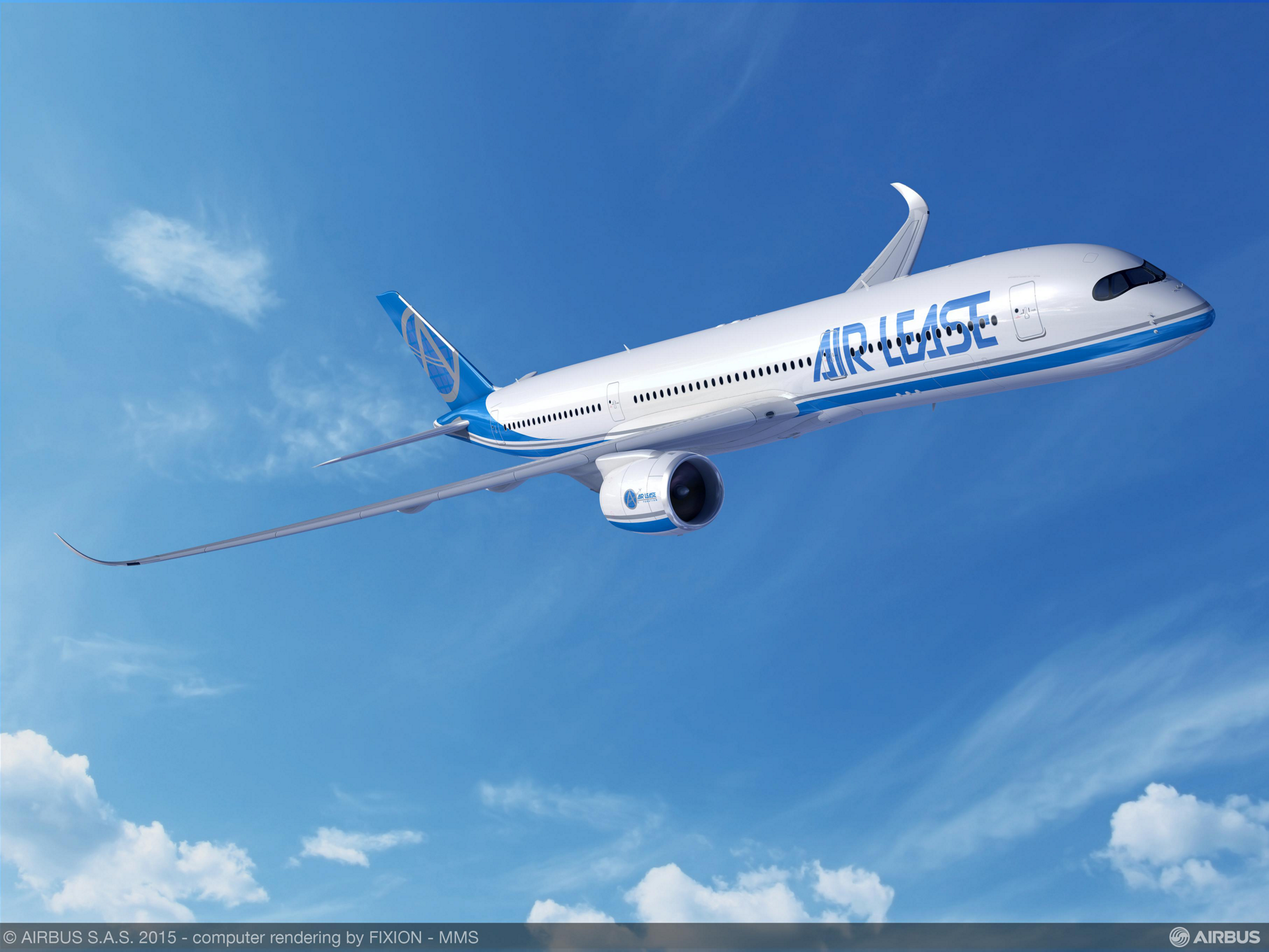 Today at the 51st International Paris Air Show, Air Lease Corporation (NYSE: AL), announced a firm order for additional Airbus widebody and single-aisle aircraft (1 A350-900, 1 A321ceo and 3 A320ceo*) to meet strong market demand for Airbus' modern, fuel-efficient aircraft.