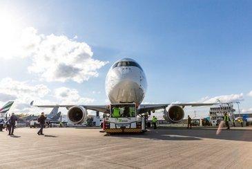 A350 XWB before Flight display at ILA Berlin 2018