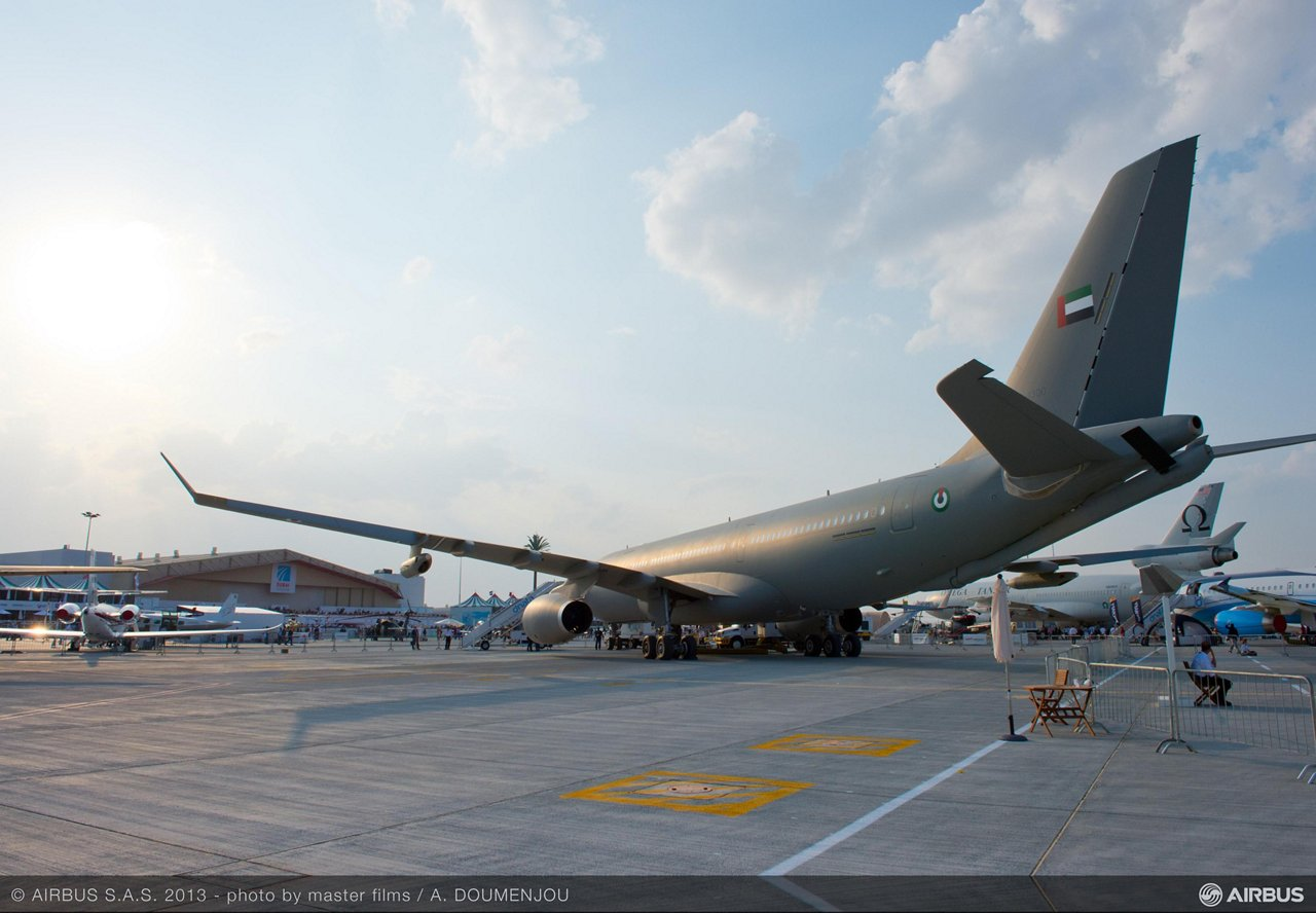 Airbus Military A330 MRTT on static at Dubai airshow 2013