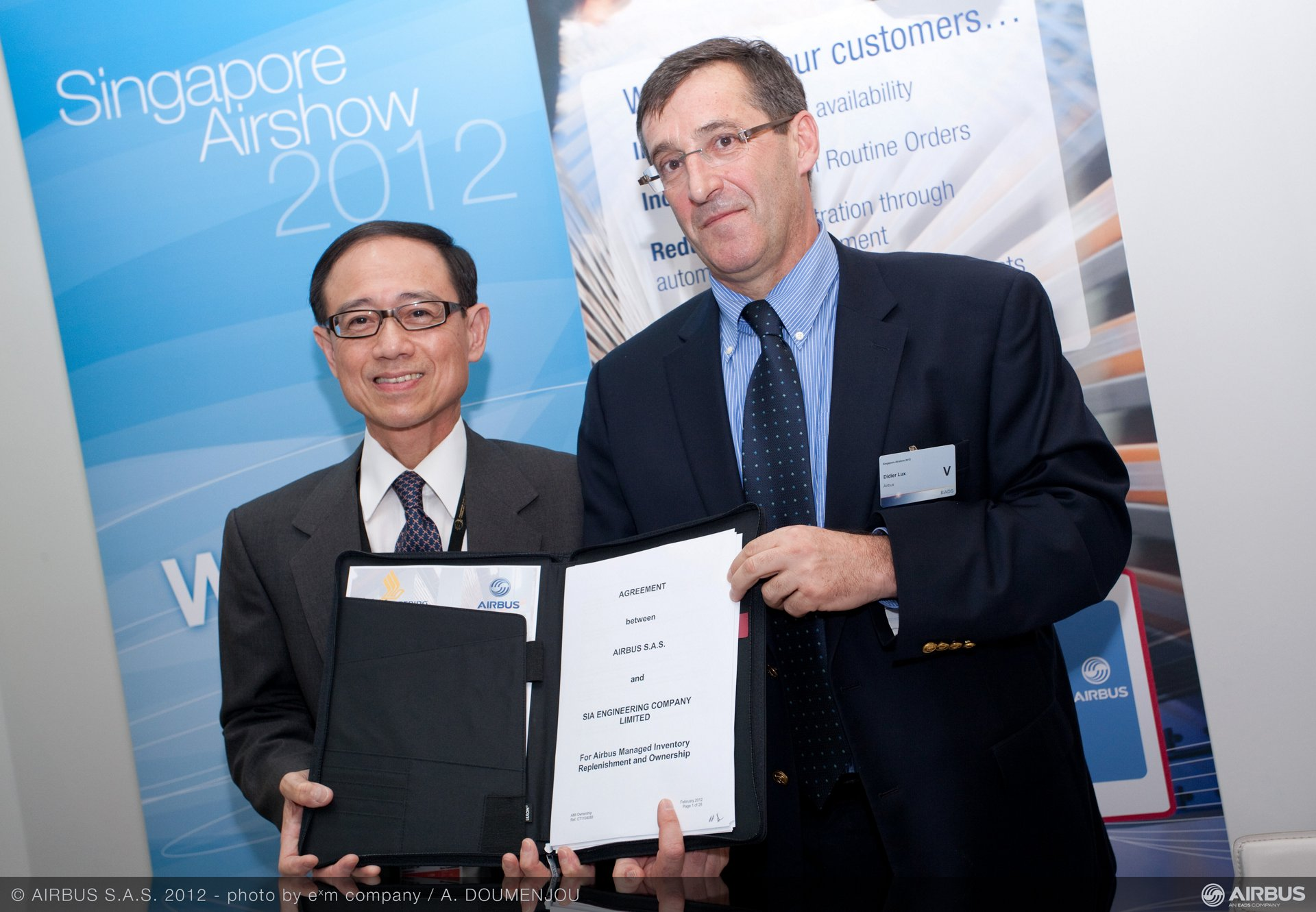 Singapore Airshow 2012 - SIA Engineering Company chooses Airbus Managed Inventory