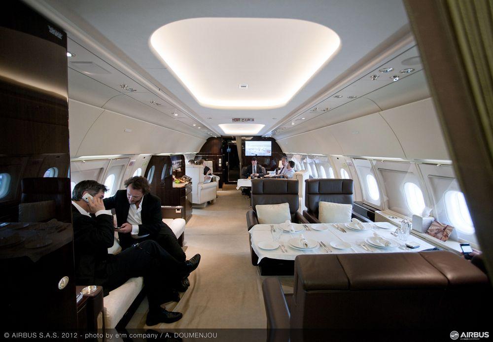 Singapore Airshow 2012 - ACJ318 cabin