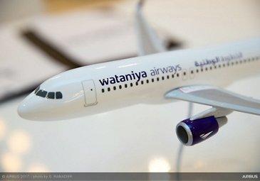 Wataniya Airways A320neo announcement at Dubai Airshow 6