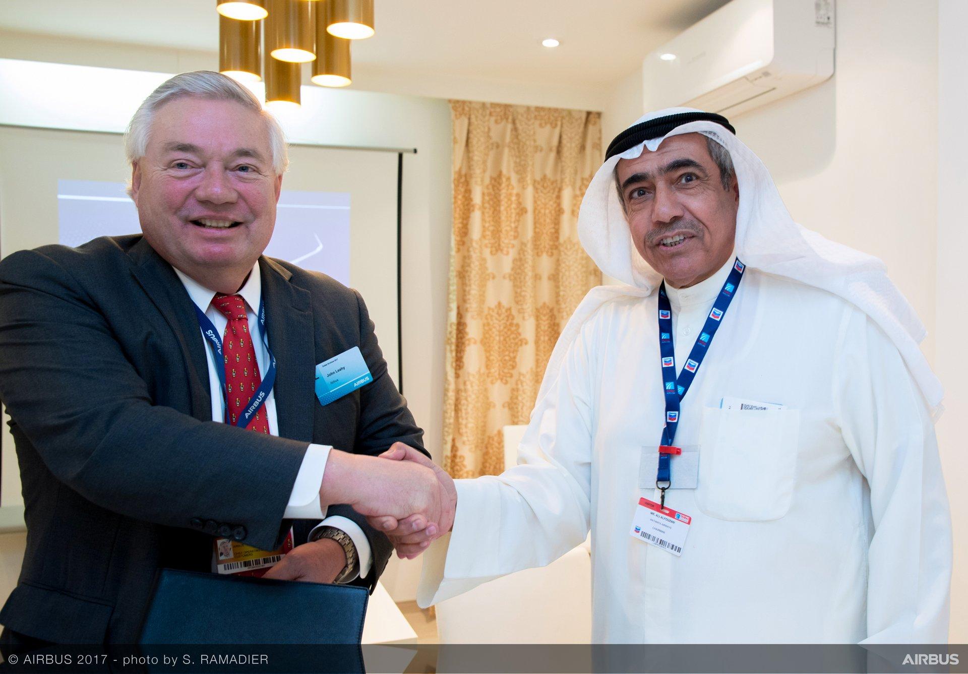 Wataniya Airways A320neo announcement at Dubai Airshow 2