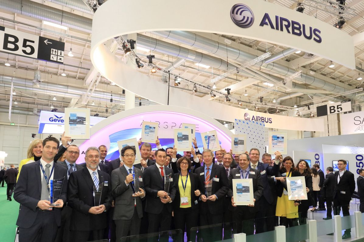 Award-winning customer satisfaction: Airbus honours cabin suppliers at Aircraft Interiors Expo 2016