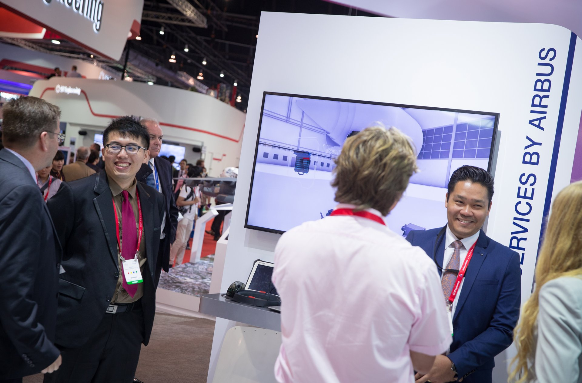 Airbus Asia-Pacific services 3  - 2018 Singapore Airshow exhibit