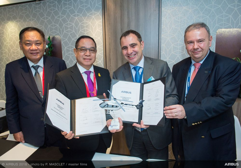 Singapore Airshow 2018 - Airbus Helicopters and Thai Aviation Industries Signature - Day 02