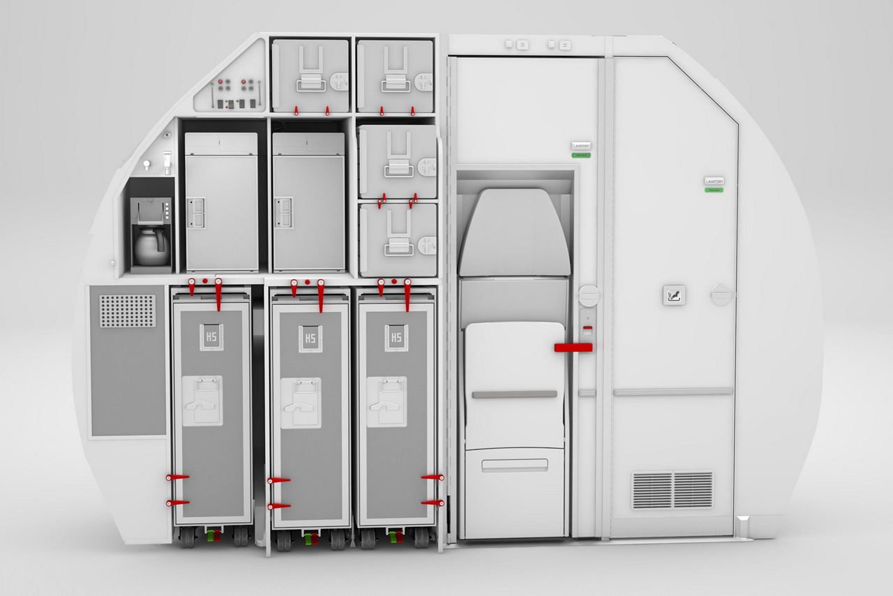 Airbus' innovative Space-Flex v2 solution optimises cabin space at the rear of an aircraft, allowing high service levels to be maintained
