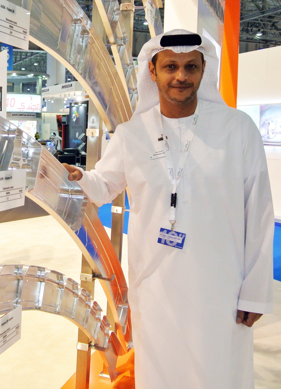 TPI's CEO Muaatasem Awda at the Dubai Airshow