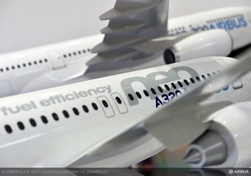 Airbus stand-A320neo mock up – 3