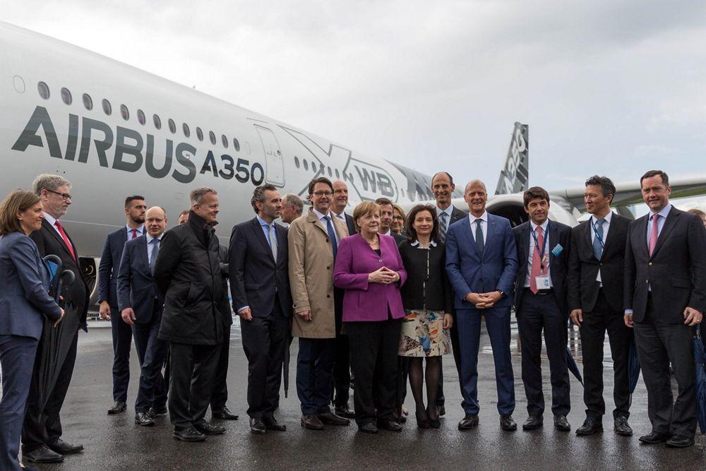 German Chancellor Angela Merkel visiting Airbus at ILA 2018