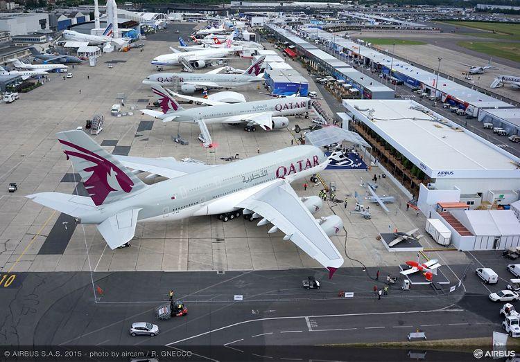 Bourget 2015 static display aerial view 1