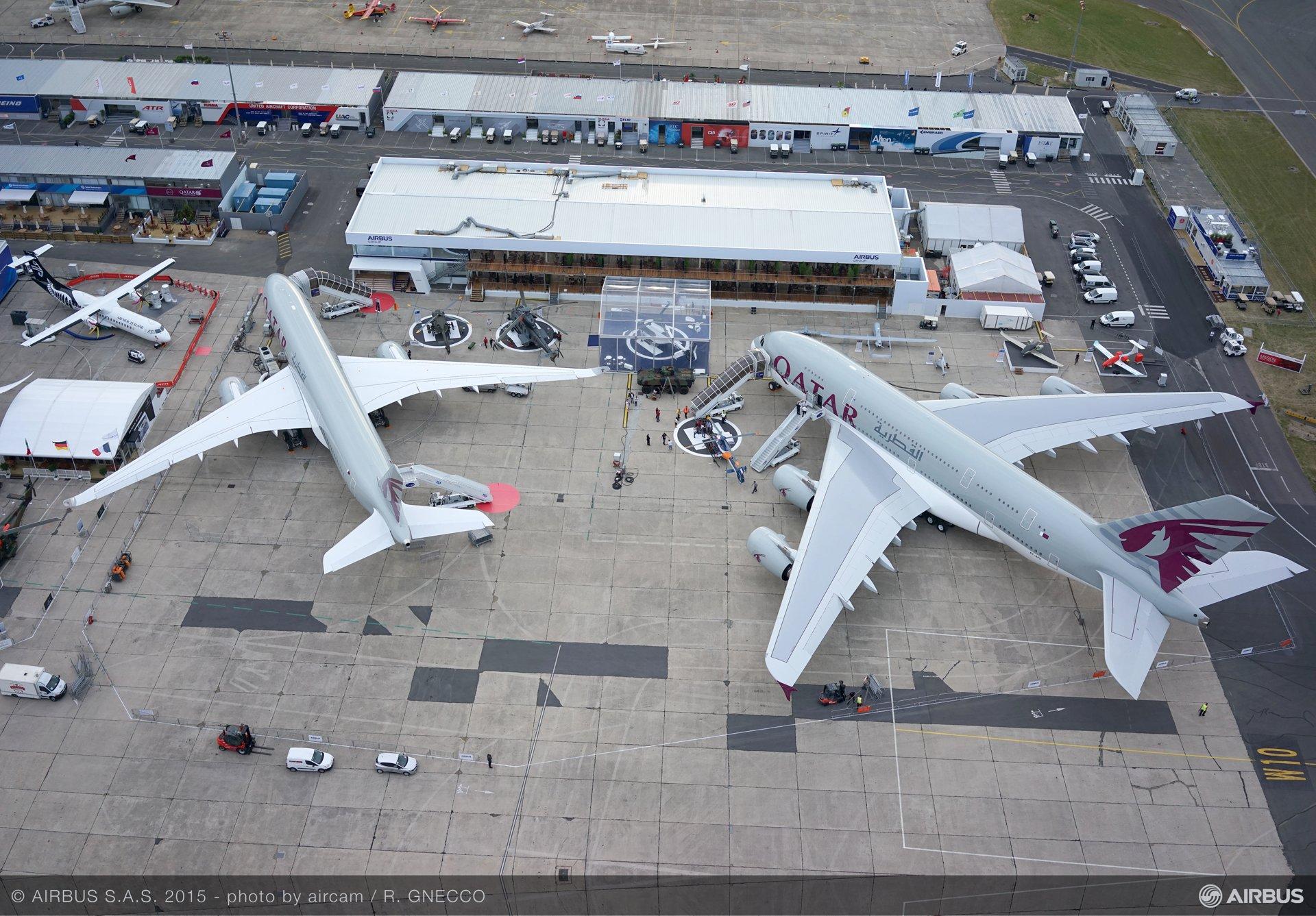 Bourget 2015 static display aerial view 3