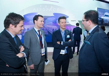 Singapore Airshow 2018 - Dirk Hoke visiting Airbus stand - Day 03