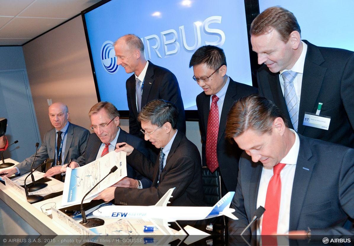 Paris Air Show 2015_A320/A321P2F signing 1
