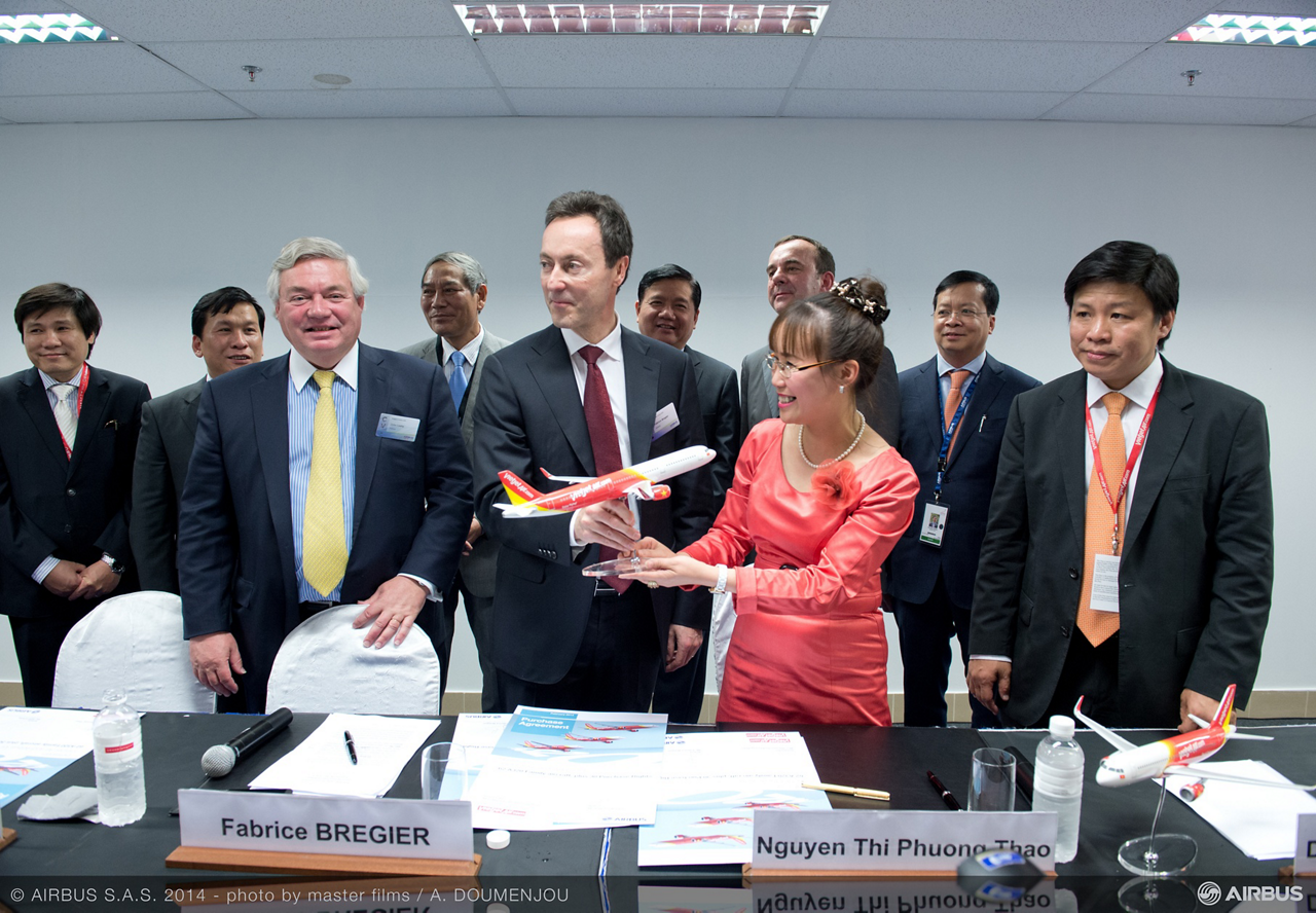 Vietnam's VietJetAir has finalised a major order for the A320 Family to meet its future expansion plans. The purchase agreement covers firm orders for 42 A320neo, 14 A320ceo and 7 A321ceo, plus 30 purchase rights. In addition the airline will lease seven more A320 Family aircraft from third party lessors.