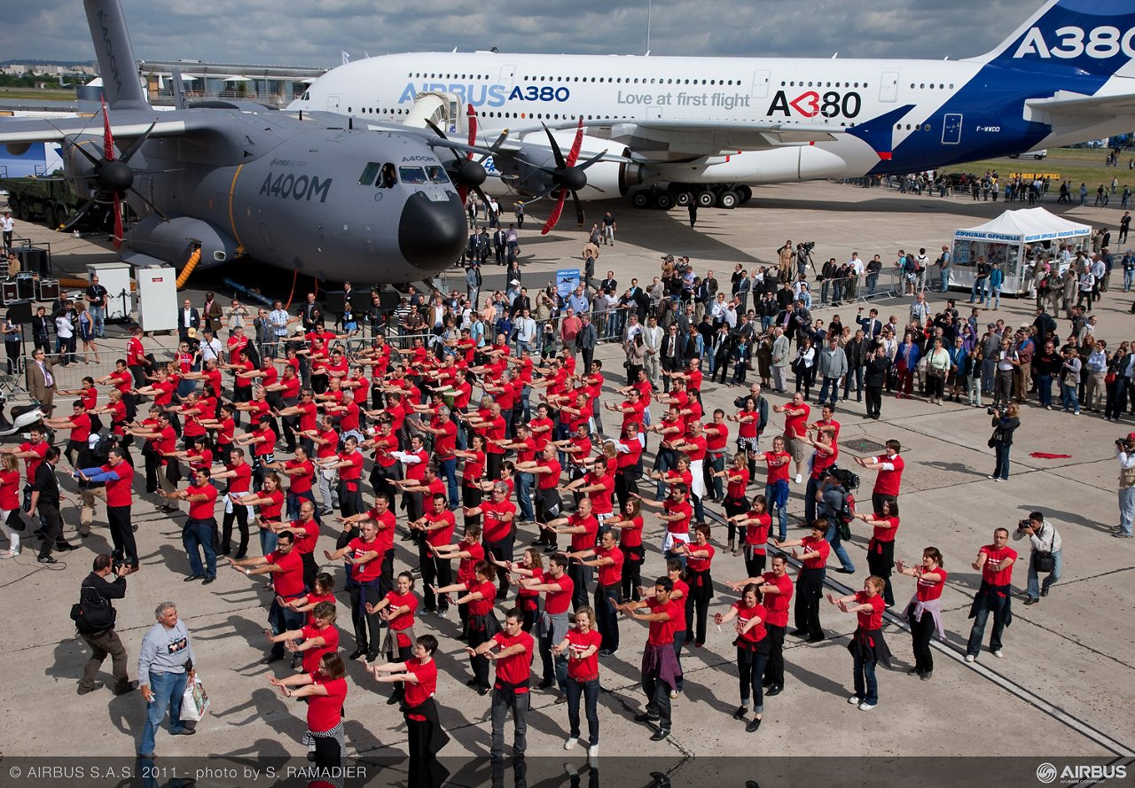Flashmob Le Bourget 2011