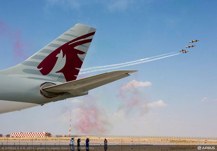Flight demo day 2 - 10 A330-200F Qatar and Al fursan 01