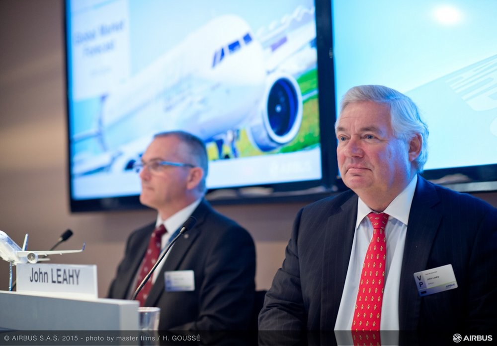 Chief Operating Officer 鈥� Customers John Leahy presented AG真人计划鈥� latest Global Market Forecast 鈥� covering the 2015-2034 timeframe 鈥� during the 2015 Paris Air Show