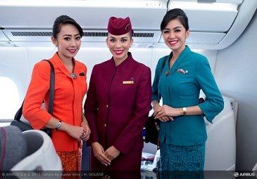 Paris Air Show 2015_Garuda crew visits Qatar A350 XWB