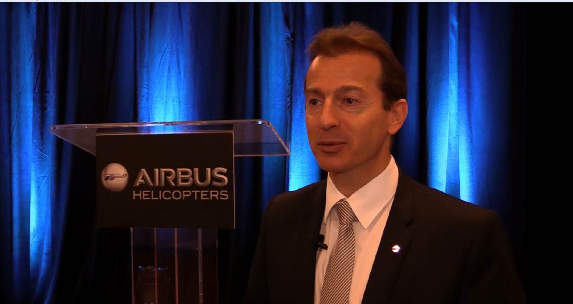 Guillaume Faury at HAI Heli-Expo 2016 Press Conference